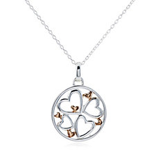 Extraordinary Life Family Circle Pendant & Chain Sterling Silver