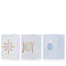 Amelia Grace Winter Greetings Card Set Of 3 with Pendants & Chain