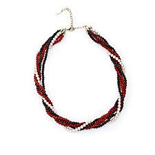 Princess Grace Collection Earth Tone Torsade 47cm Necklace
