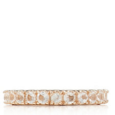 0.55ct African Morganite 1/2 Eternity Ring Rose Gold Vermeil Sterling Silver