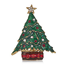 Bill Skinner Christmas Tree Brooch
