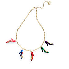 Butler & Wilson Enamel Shoes 43cm Necklace