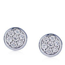 Lisa Snowdon Diamond Round Stud Earrings Sterling Silver