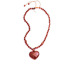 Lola Rose Jezebel Necklace with Faceted Heart Pendant