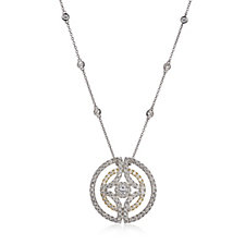 Diamonique by Tova 3.1ct tw Circle 47cm Necklace Sterling Silver