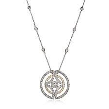 Diamonique by Tova 3.1ct tw Circle 47cm Necklace Sterling Silver