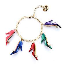 Butler & Wilson Enamel Shoes Bracelet