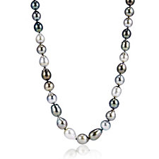 9-11mm Cultured Tahitian Pearl Semi Baroque Ombre 48cm Necklace 14ct Gold