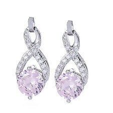 Diamonique 3.2ct tw Criss Cross Earrings Sterling Silver