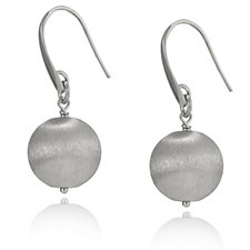 Bianca Platinum Plated 14mm Ball Drop Earrings Sterling Silver