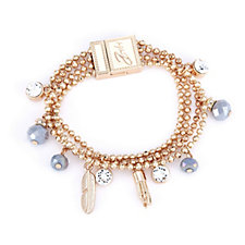 Bibi Bijoux Beaded Ball Charm Bracelet
