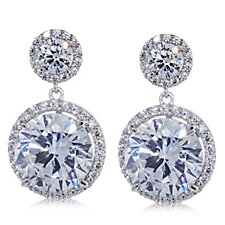 Michelle Mone for Diamonique 6.90ct tw Glamour Earrings