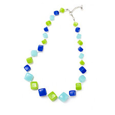 320669 - One Button Quirky Cubes 58cm Necklace