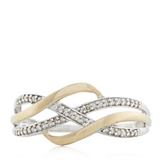0.10ct Diamond Wave Ring 9ct Gold