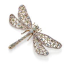 Butler & Wilson Crystal Dragonfly Brooch