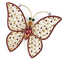 Butler & Wilson Crystal Butterfly Brooch