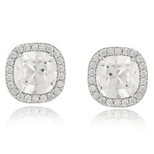 Platinum-Plated Diamonique 2.2ct tw Stud Earrings Sterling Silver