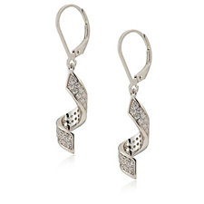 Diamonique 0.7ct tw Twist Drop Earrings Sterling Silver