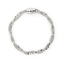 Bianca Platinum Plated Coreana & Popcorn Bracelet Sterling Silver