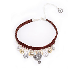 Bibi Bijoux Leather Charm 42cm Necklace