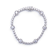 Elizabeth Taylor 5.35ct tw Simulated Diamond Station Bracelet