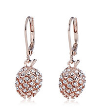 Bill Skinner Crystal Pinecone Drop Earrings