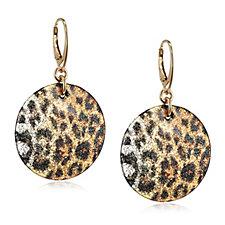 Murano Glass Leopard Earrings Sterling Silver