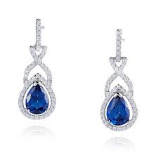 Diamonique 3.4ct tw Pear Cut Drop Earrings Sterling Silver