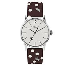 Radley London Vintage Dog & Dot Leather Strap Watch