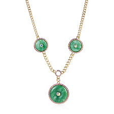 Butler & Wilson Triple Jade Circles 40cm Necklace