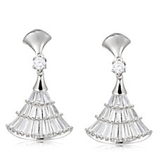 Frank Usher Mini Fan Baguette Crystal Earrings