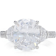 322571 - Michelle Mone for Diamonique 4.7ct tw Trilogy Ring Sterling Silver