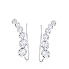 305672 - Aurora Swarovski Crystal Graduated Earclimber Earrings