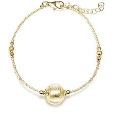 Murano Glass Stacking 18cm Bracelet Sterling Silver