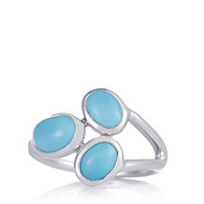 Sleeping Beauty Turquoise Trilogy Ring Sterling Silver