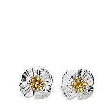 Azendi Birthday Flowers Poppy Earrings Sterling Silver