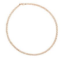 Bronzo Italia Woven Flexi 45cm Necklace