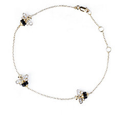 Diamonique 0.4ct tw Bee 22cm Bracelet Sterling Silver