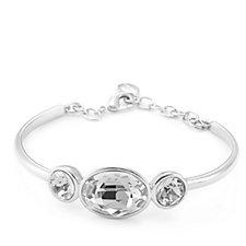 Aurora Swarovski Crystal Tri-Stone Bracelet with Extender