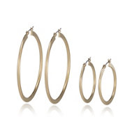 Pilgrim Omega Set of Two Pairs of Hoop Earrings