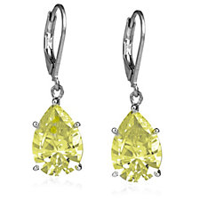 Elizabeth Taylor 9.1ct Simulated Diamond Drop Earrings