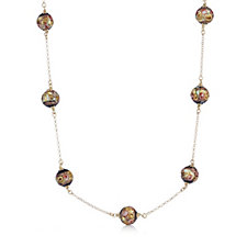 Murano Glass Millerose Station Necklace Sterling Silver