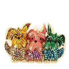 Butler & Wilson Crystal Scottie Dog Brooch