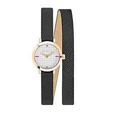 Furla Ladies Vittoria Leather Strap Watch