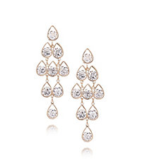 Frank Usher Teardrop Crystal Statement Earrings