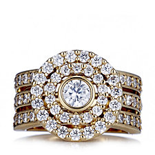 Elizabeth Taylor Simulated Diamond Gold Circle Ring