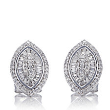 311574 - 0.50ct Diamond Marquise Earrings 9ct White Gold