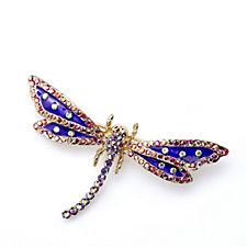 Butler & Wilson Crystal & Enamel Dragonfly Brooch