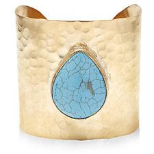 307075 - Ottoman Hands Semi Precious Stone Cuff Bracelet