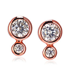 InStyle for Diamonique 'Clementine' 0.22ct tw Stud Earring